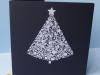Flokowana karta świąteczna