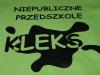 KLEKS - zielona koszulka z czarnym nadrukiem transferowym