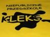 KLEKS - żółta koszulka z czarnym nadrukiem transferowym